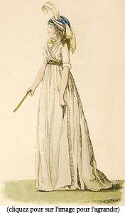 Pour la bourgeoisie, le monde élégant du XIXè siècle était splendide et luxueux. La mode du XVIIIè siècle a rapidement évolué en apportant, au XIXè siècle,